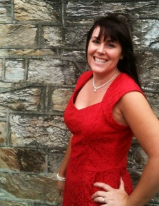 Me on a good day - scrubbed up for a wedding